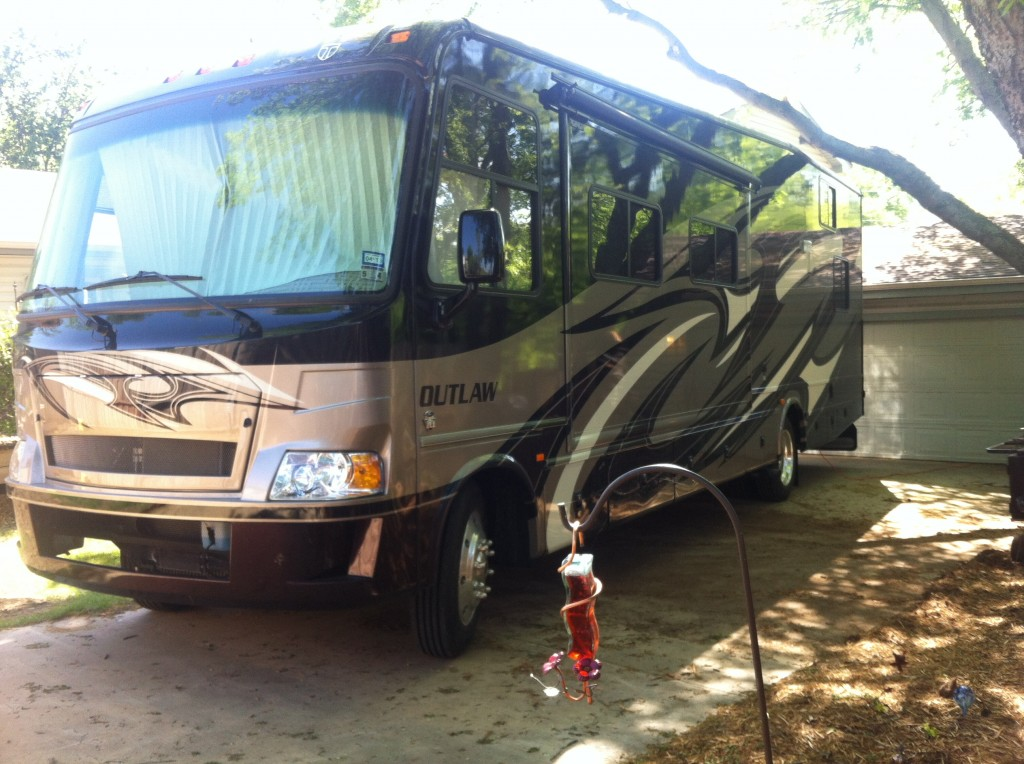The Thor Outlaw is a big motorhome, but it boasts a 10-foot garage.