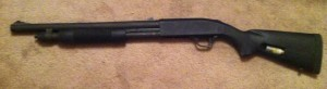 What this Mossberg really needs is a rail and a red dot sight.