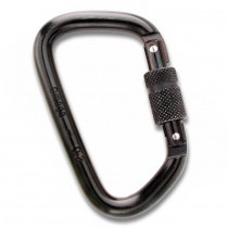 "Omega Pacific 7/16"" Modified D Steel Carabiners Black"