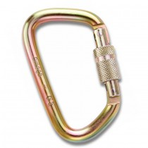 "Omega Pacific 7/16"" Modified D Steel Carabiners Gold"