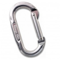 Omega Pacific OVAL Shaped Straightgate Carabiner Bright Silver