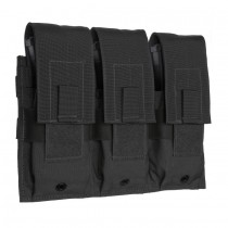 Triple Universal Rifle Molle Magazine Pouch Black