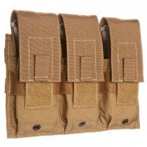 Triple Universal Rifle Magazine Molle Pouch Coyote