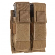 Double Universal Pistol Magazine Molle Pouch Coyote