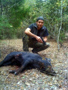 Hunting feral hogs with a handgun is a more challenging way to spot-and-stalk.