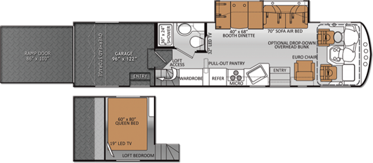 In the floor plan you can truly see how much room is sacrificed to the garage.