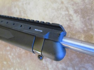 Once installed, the Amega Mini-Scout-Mount makes the rifle look like it came this way from the factory.