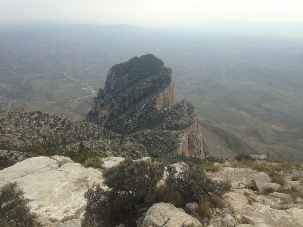 El Capitan, as seen from the top of Guadalupe Peak in far West Texas