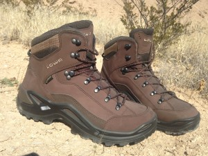 Quality boots, such as these from LOWA, are a valuable investment. Once you have a pair, make sure to break them in properly! Don't wait until you need to hike 20 miles to escape danger to find out that your boots are too stiff and not broken in at all.